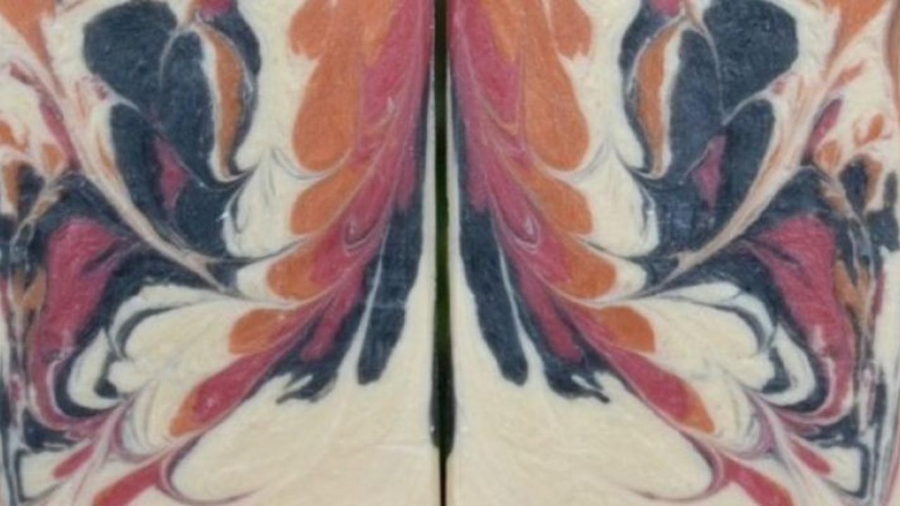 two bars of hot process soap