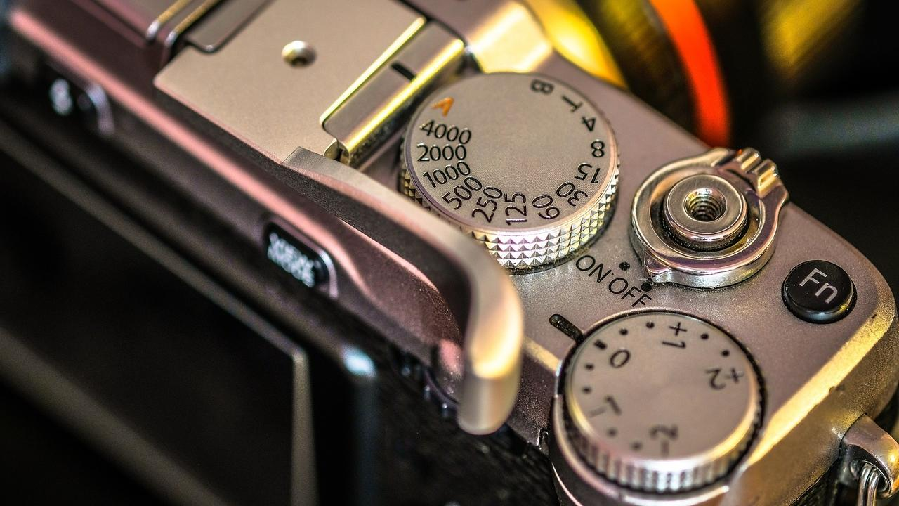 close up of camera settings