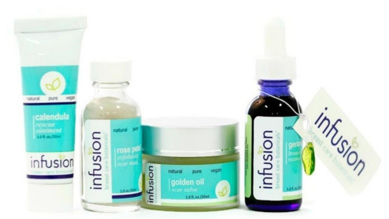 full set of breast care botanicals skincare