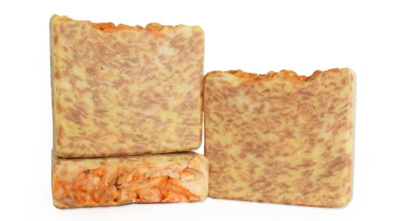 three bars of peaches and cream soap