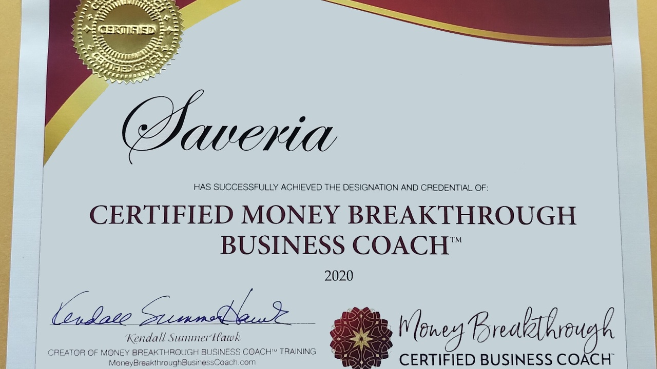 Money Breakthrough Certificated Business Coach