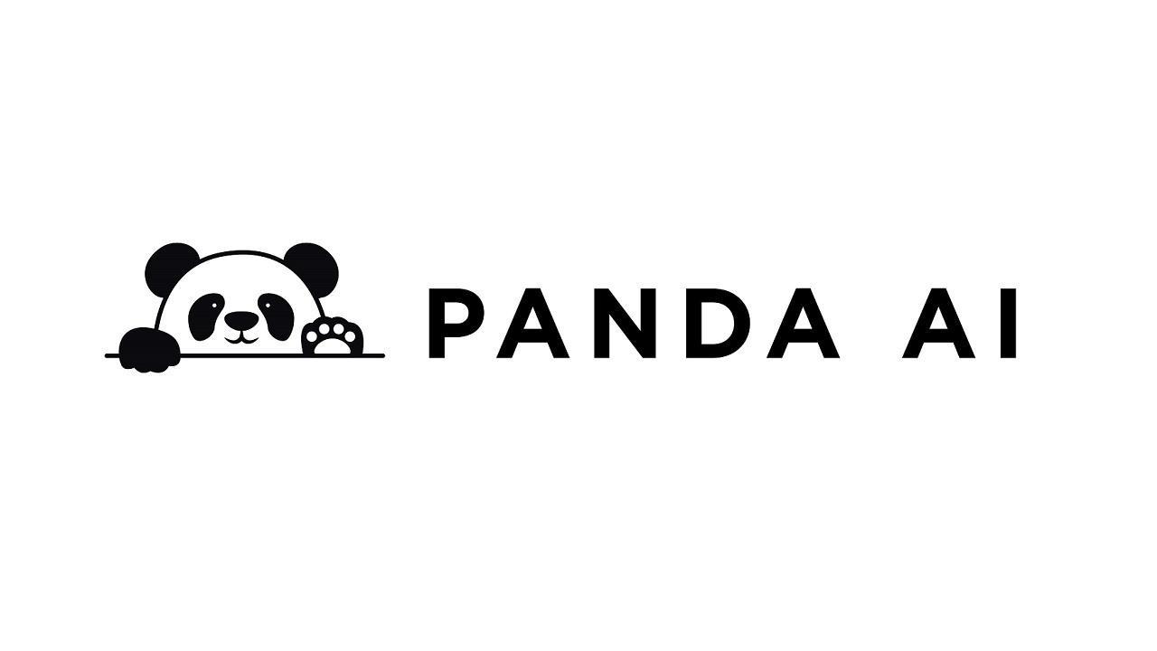 PANDA AI Logo Black and White