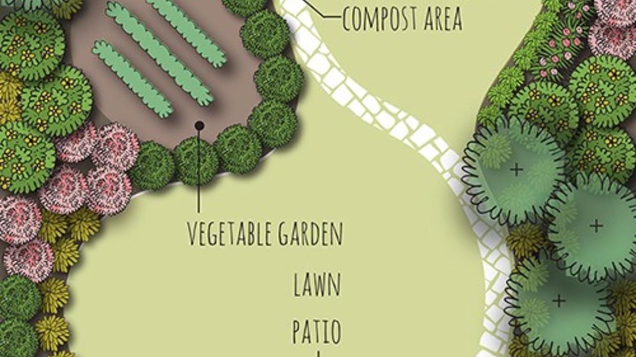 curvilinear landscape design