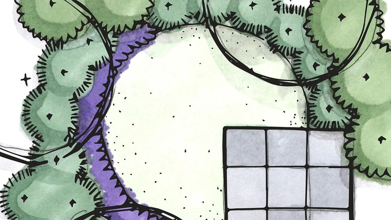 marker rendering for garden plan