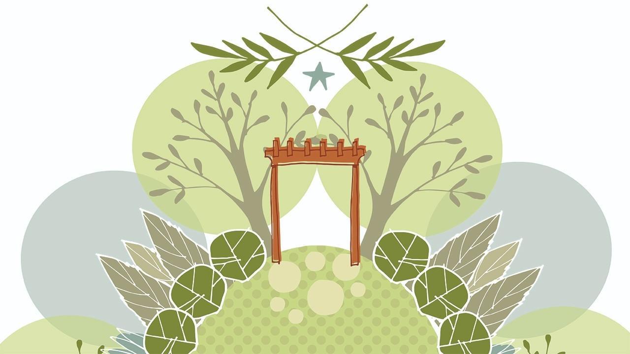 illustration of garden