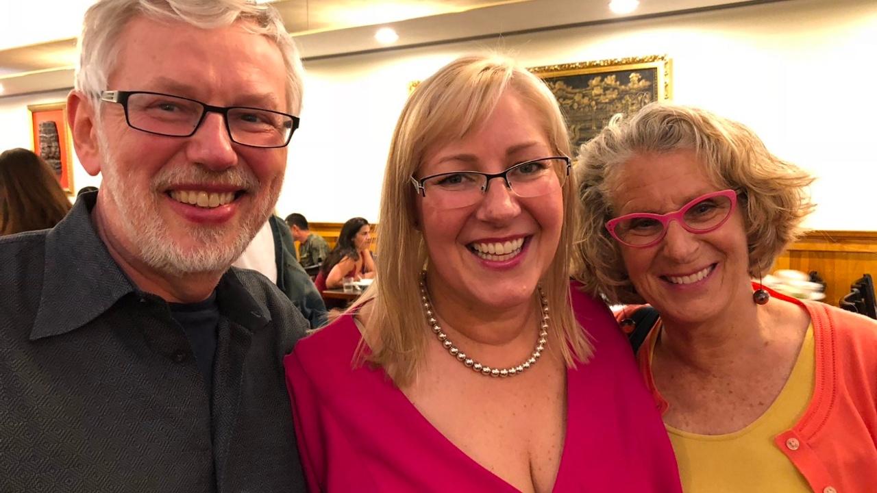 Harvey, me and Simone Joyaux at a conference