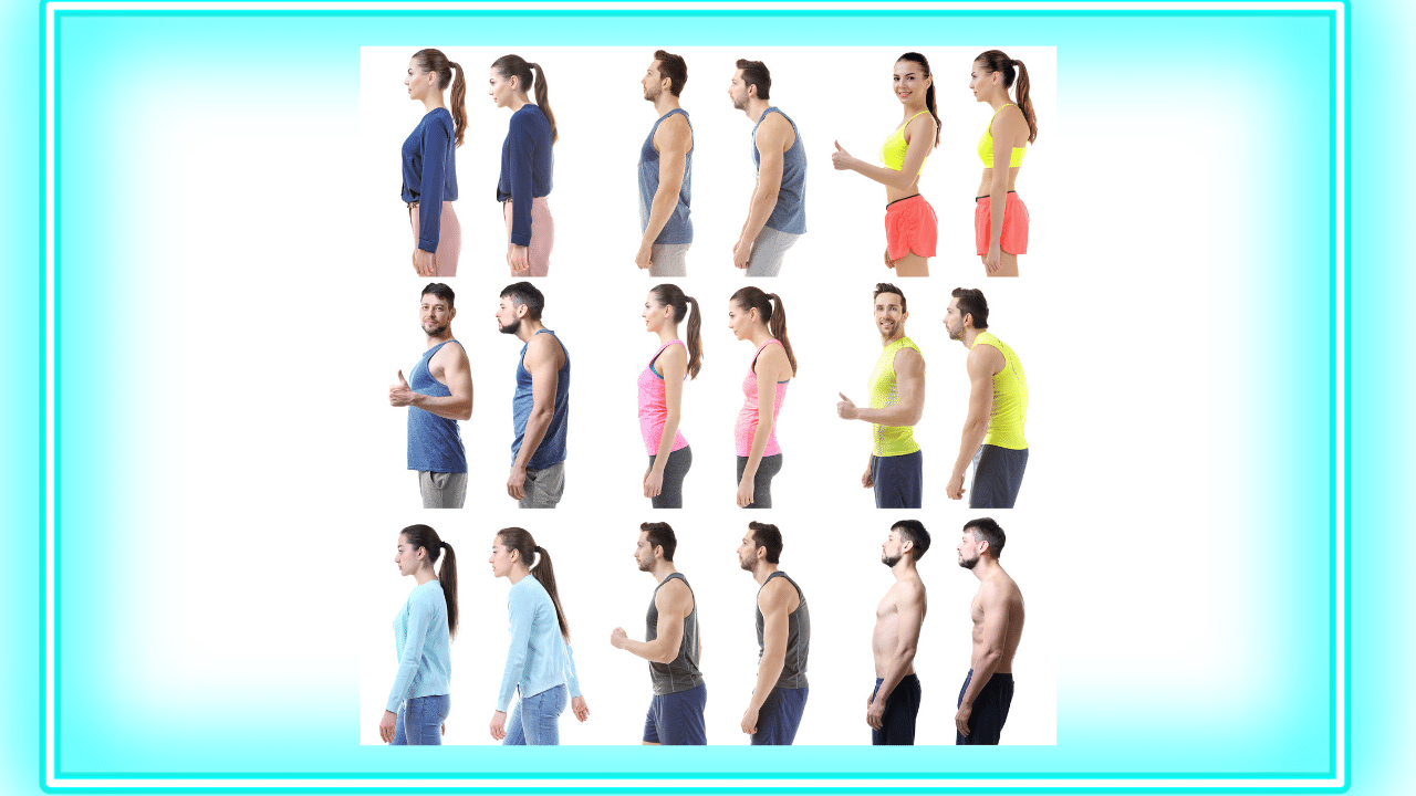 poor posture versus good posture - Posture assessments available at core fusion Pilates and physiotherapy