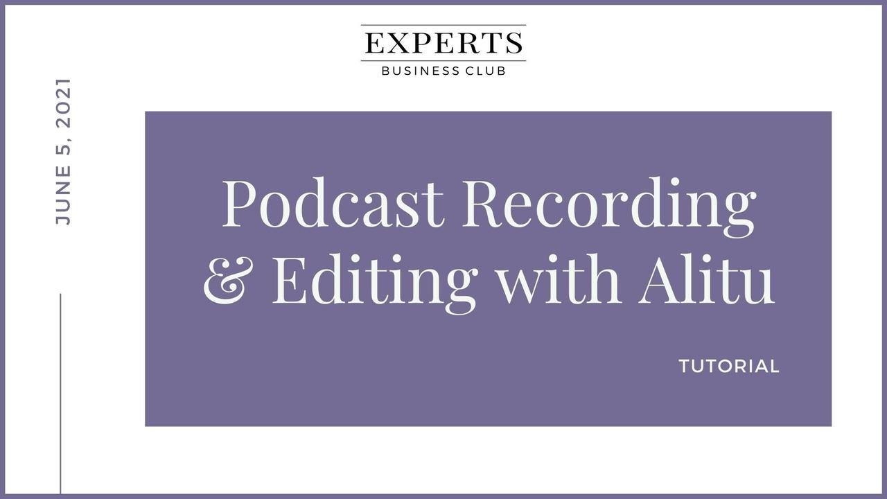 Podcast Recording Editing Alitu