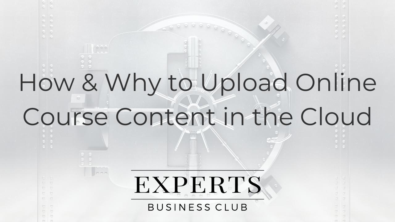 Cloud Storage Online Course Content