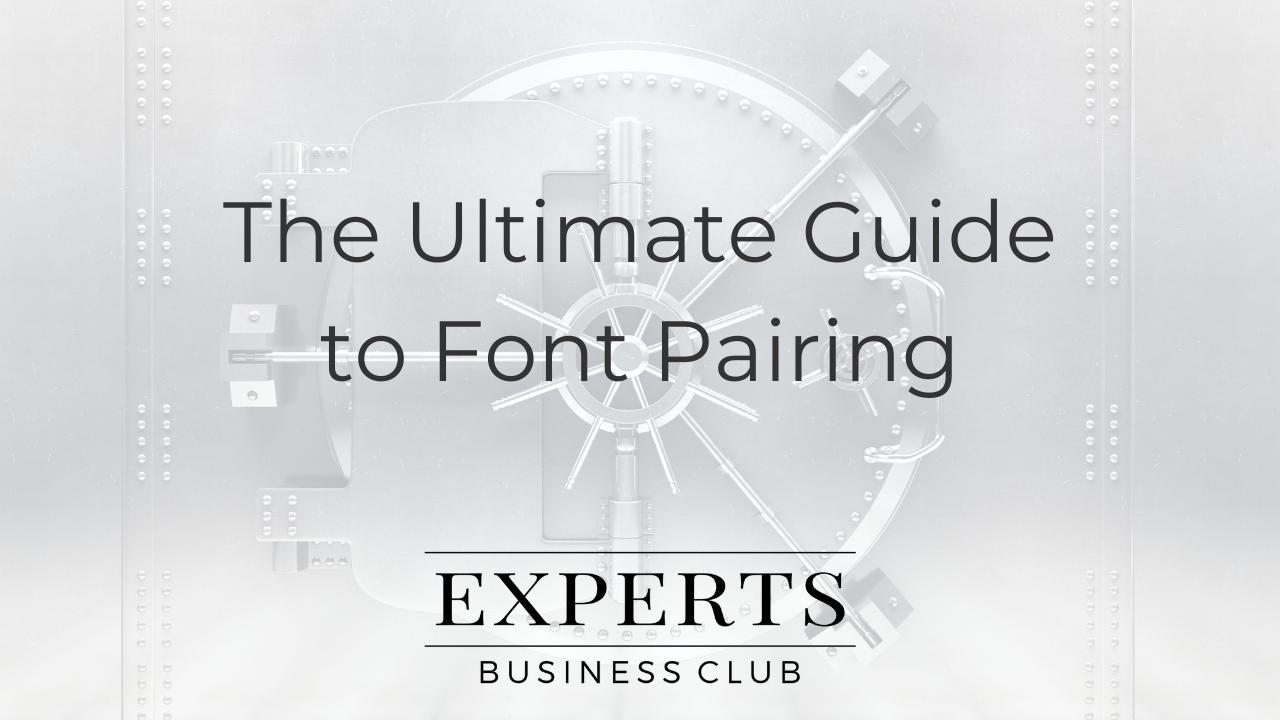 Font Pairing, Typography