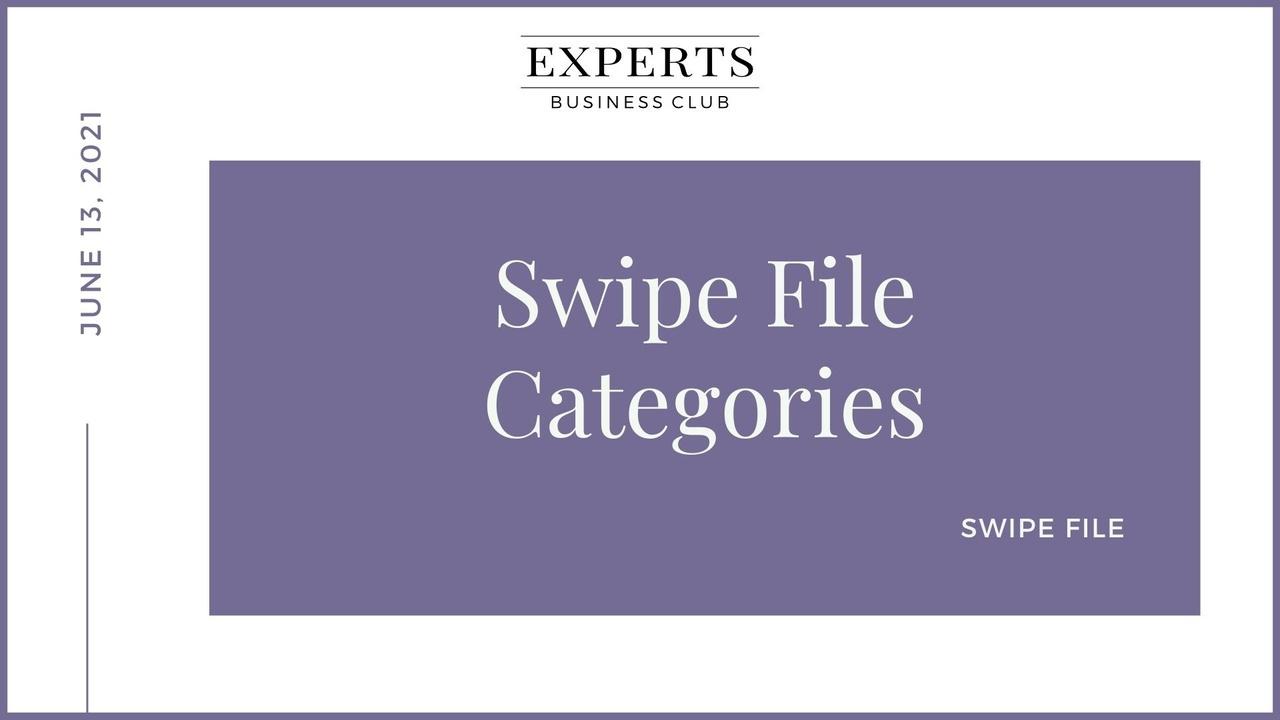 Swipe File
