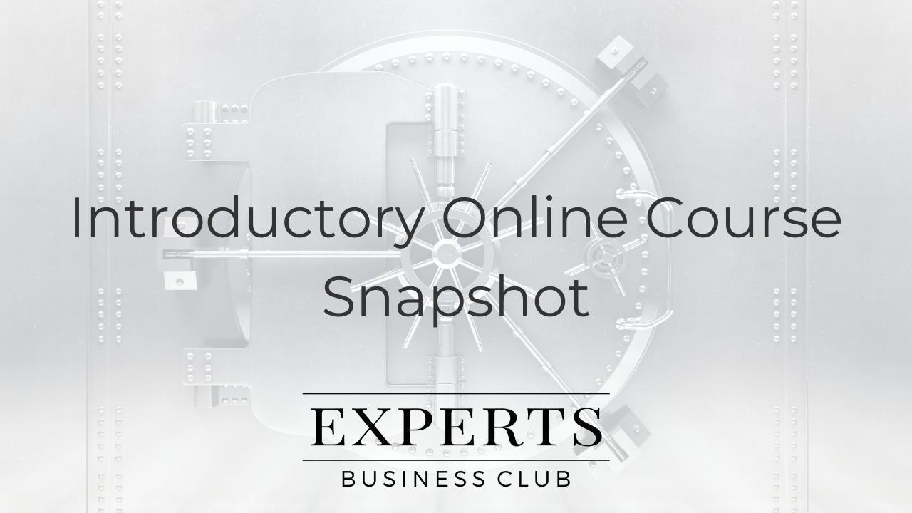 Introductory Online Course
