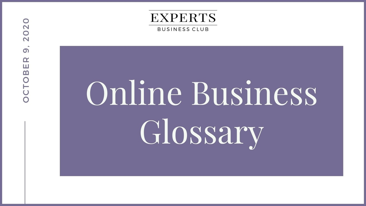 Online Business Glossary