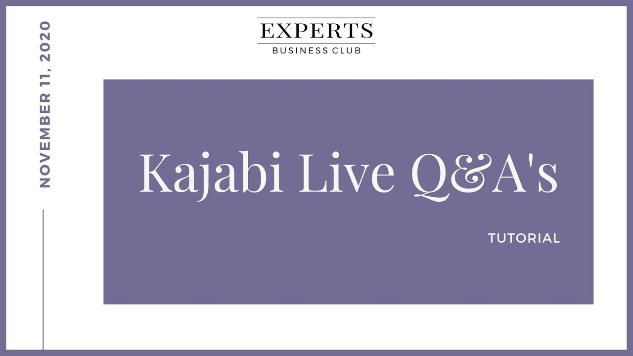 Kajabi Live Q&A