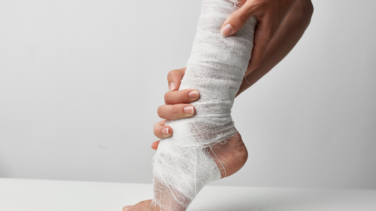 Sports Injury Prevention. Injured Ankle From Over Excursion