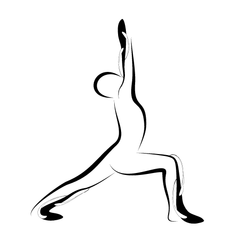 An outline of a whole person doing a stretching health exercise