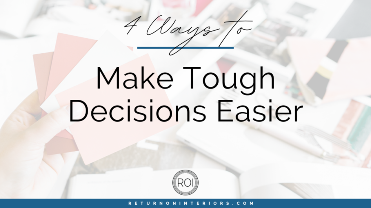 make tough decisions easier;pros and cons
