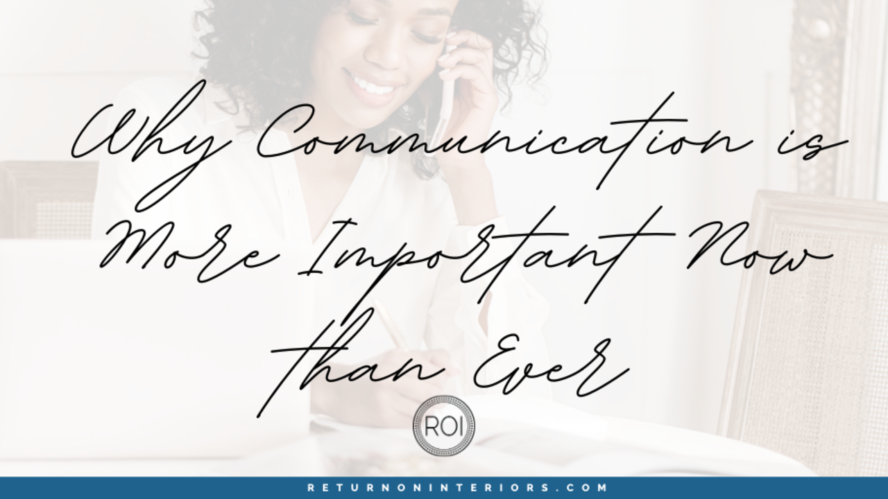 communication is more important now than ever