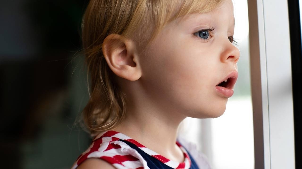 picture of toddler staring in wonder to support a blog post about being ineffable
