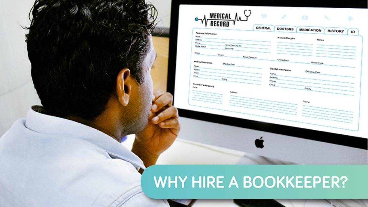 Hiring a bookkeeper for your practice provides a number of business benefits.