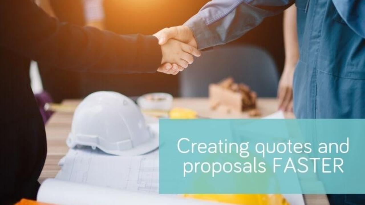 Creating quotes and proposals FASTER: 5 reasons to automate your proposal process
