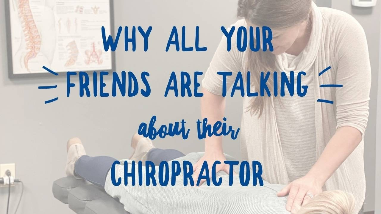 Dr. Kiernan Adjusting patient with chiropractic care with words