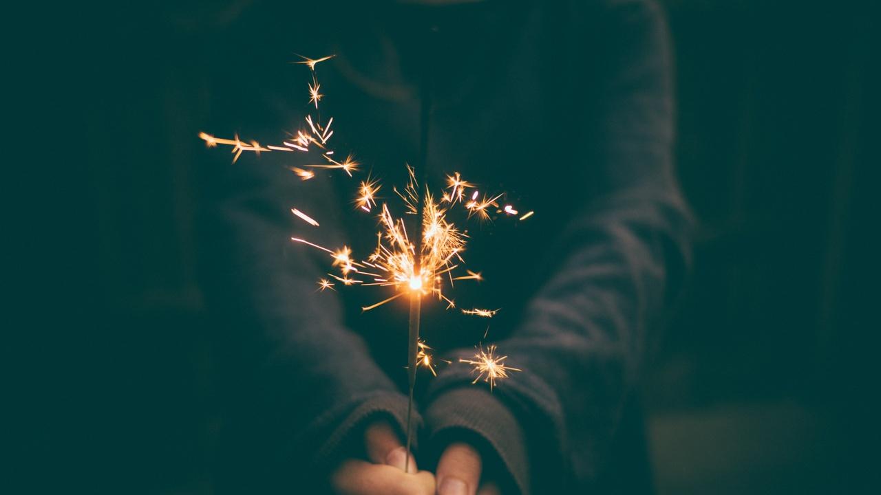 New Year's Money Resolutions Sparkler
