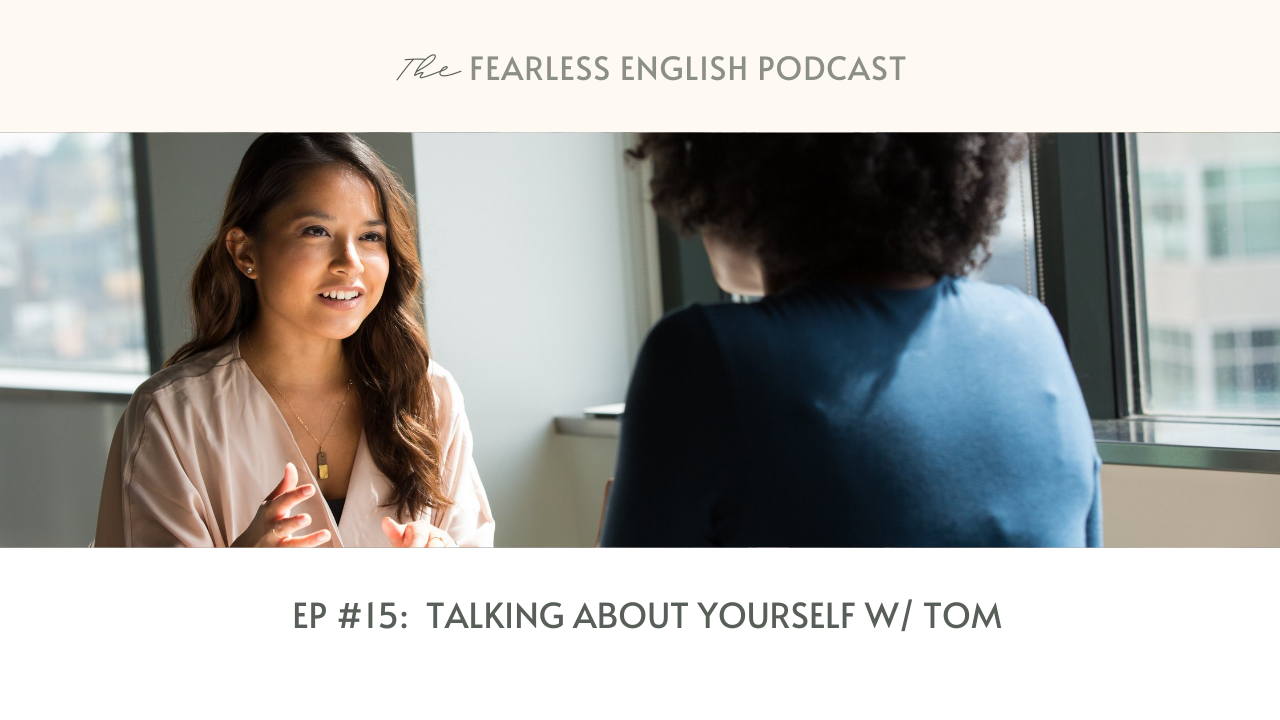 speak about yourself in English