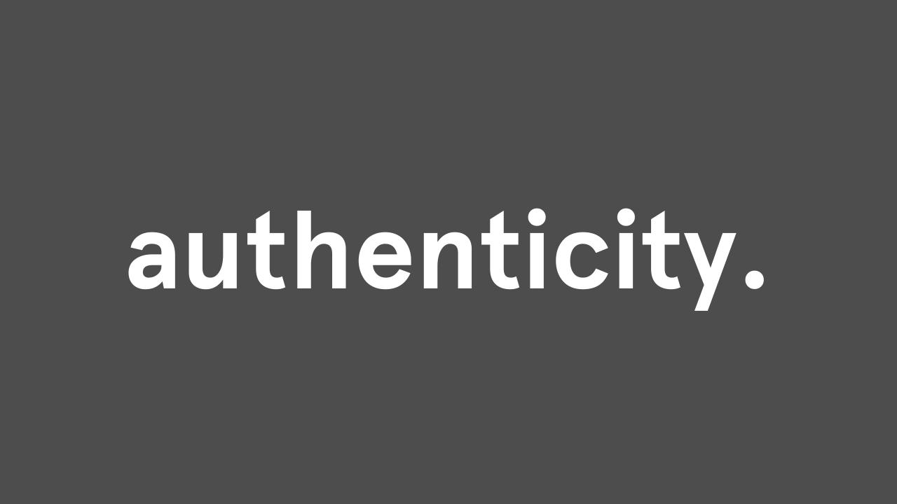 authenticity accent