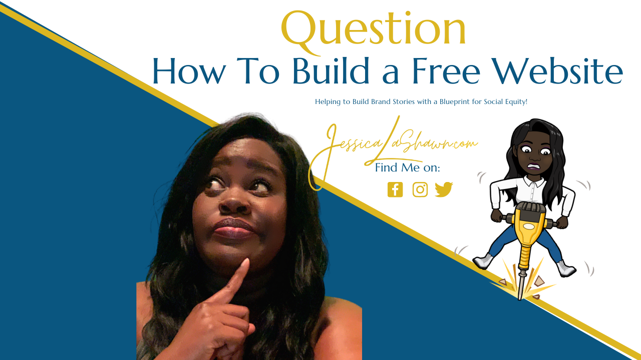 Jessica LaShawn  of Mogul Academy African American Woman Looking Curious Asks Question About Website Building for Its Jess Branding Blog for entrepreneurs and personal brands
