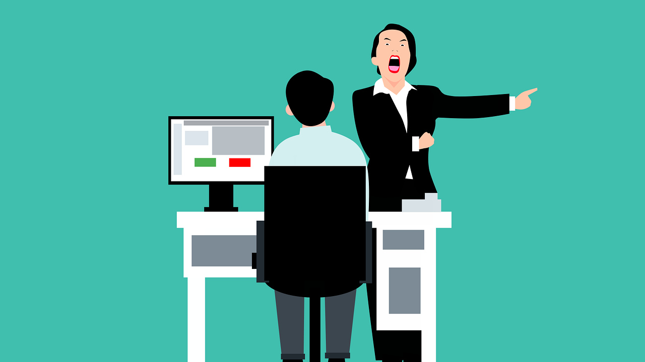 A unfulfilled employee dealing with a bad boss