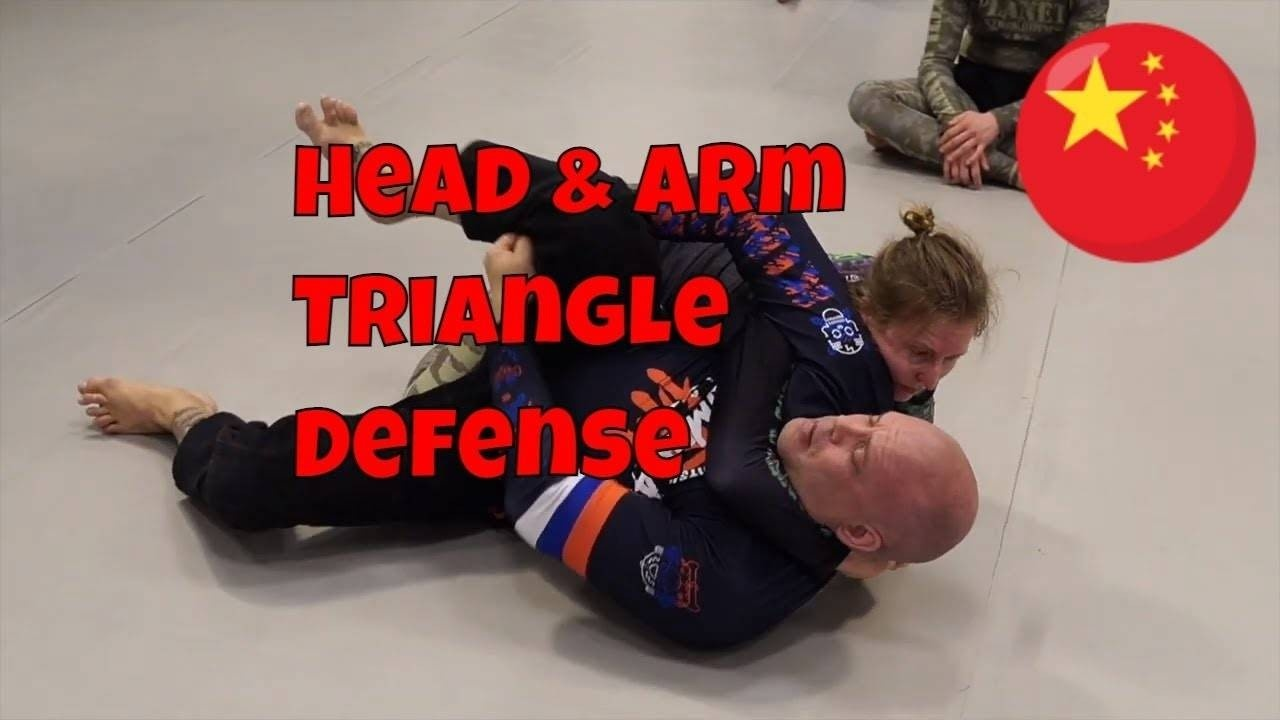 head and arm triangle defense