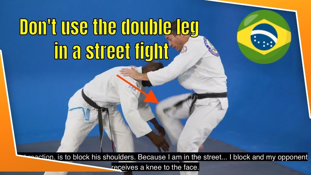 double leg street fight