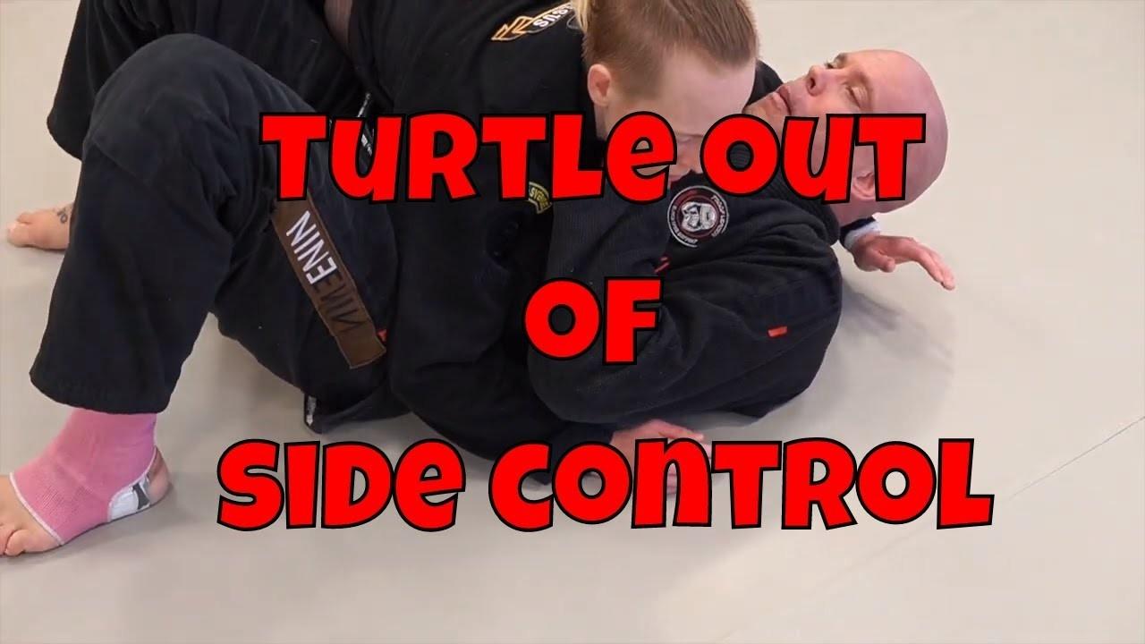 turtle escape side control
