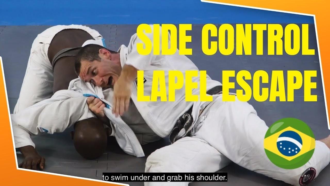 side control escape with lapel