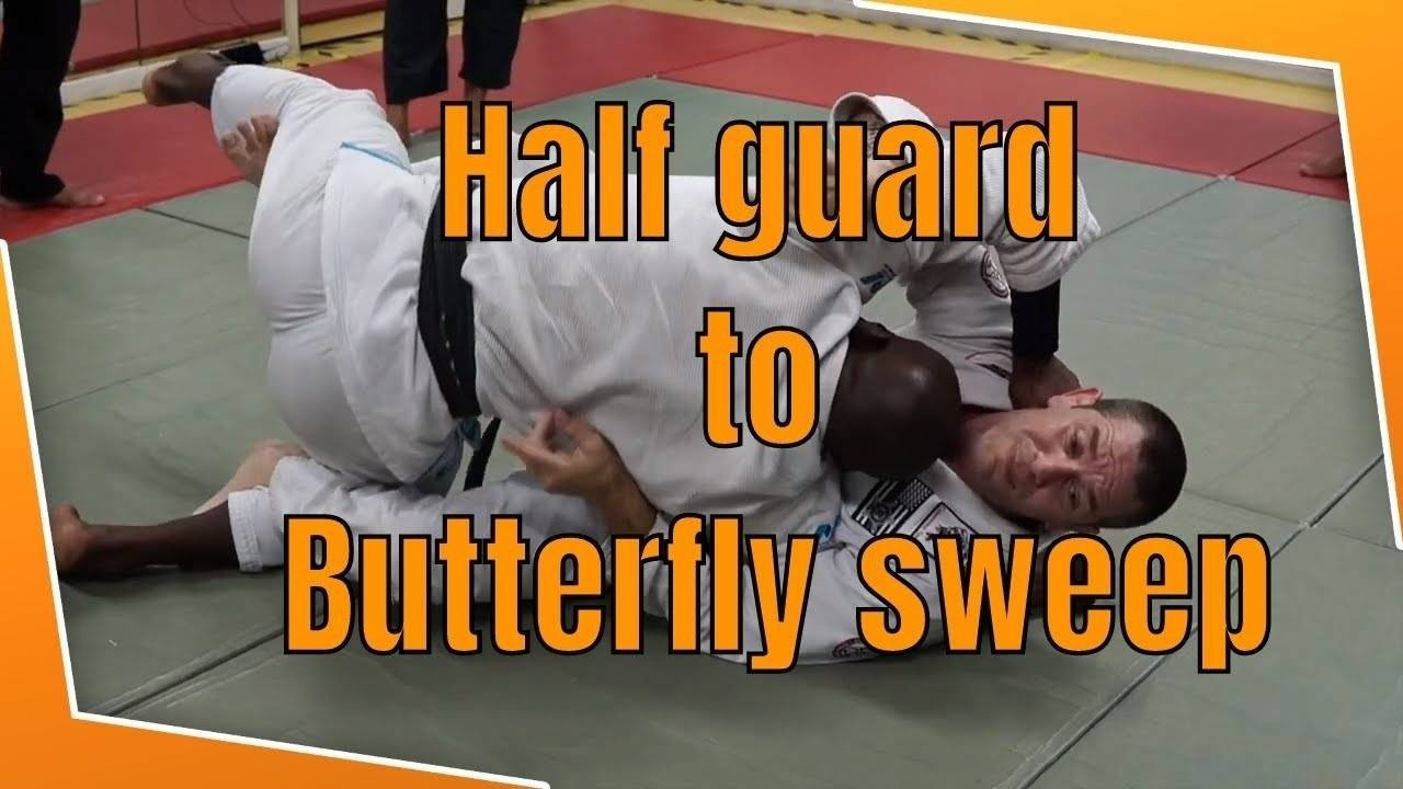 half guard to butterfly sweep