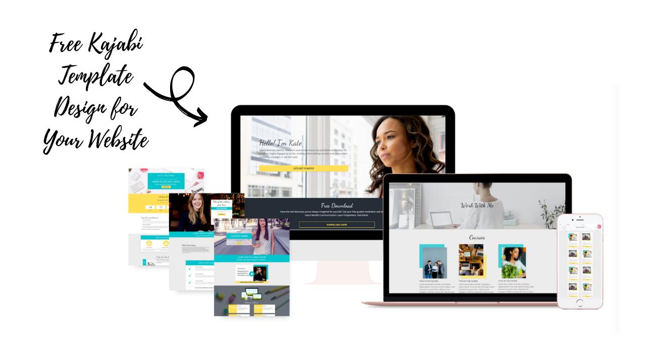 Free Beautiful Kajabi Template Design for Your Website