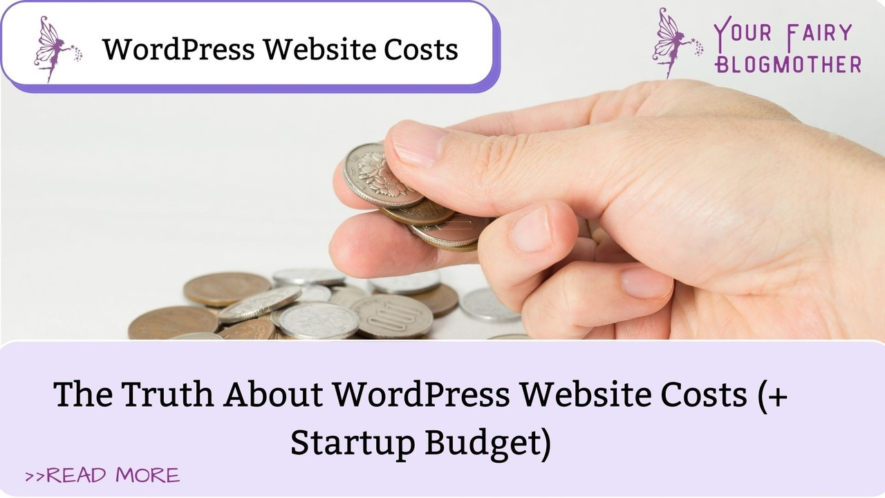 hand with change, Your Fairy Blogmother, WordPress Website Costs