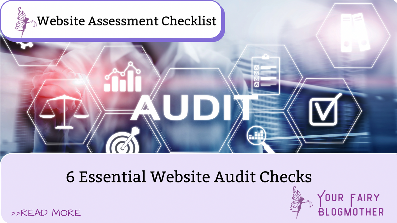 Purple background, audit, essential technical website audit checks
