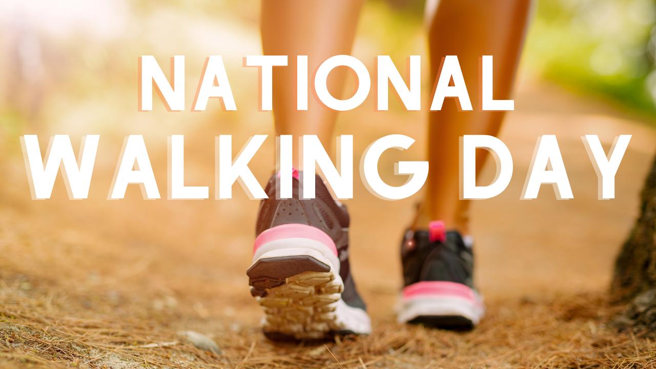 National Walking Day Image of feet walking