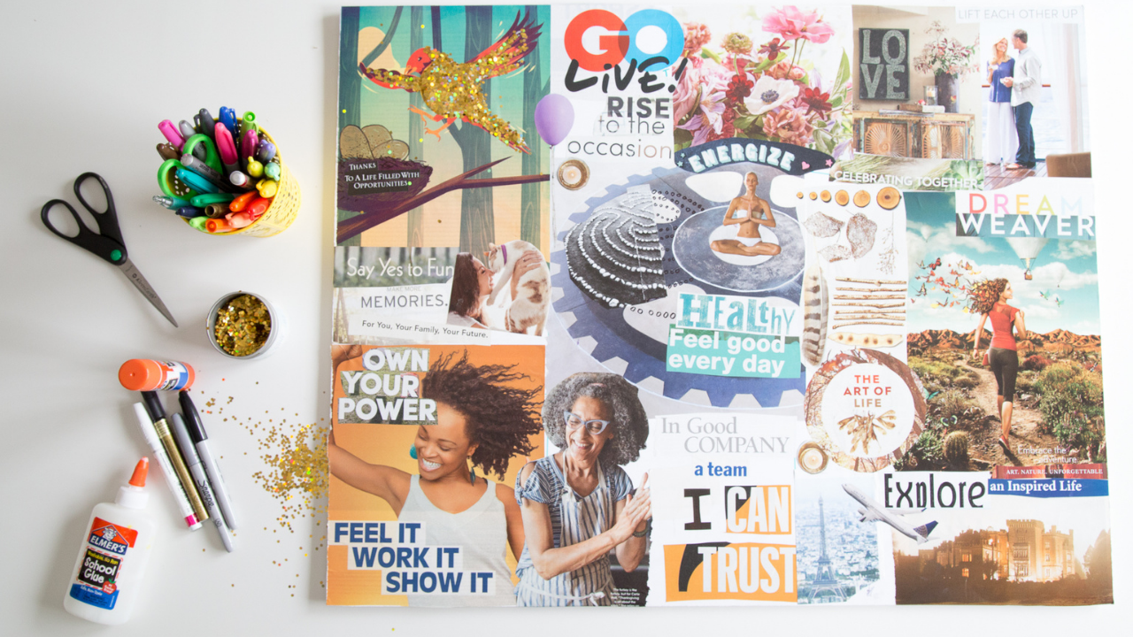 How to Make a Vision Board with Magazine Images and Words