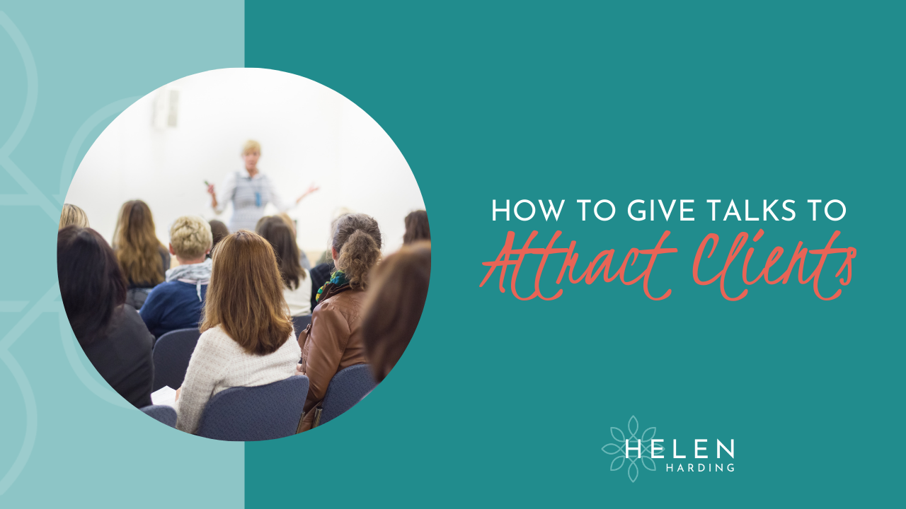 How to Give Talks to Attract Clients