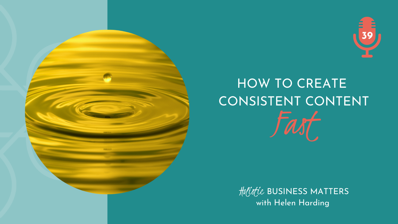 How to Create Consistent Content Fast