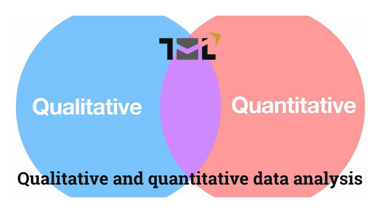 Qualitative and quantitative data analysis