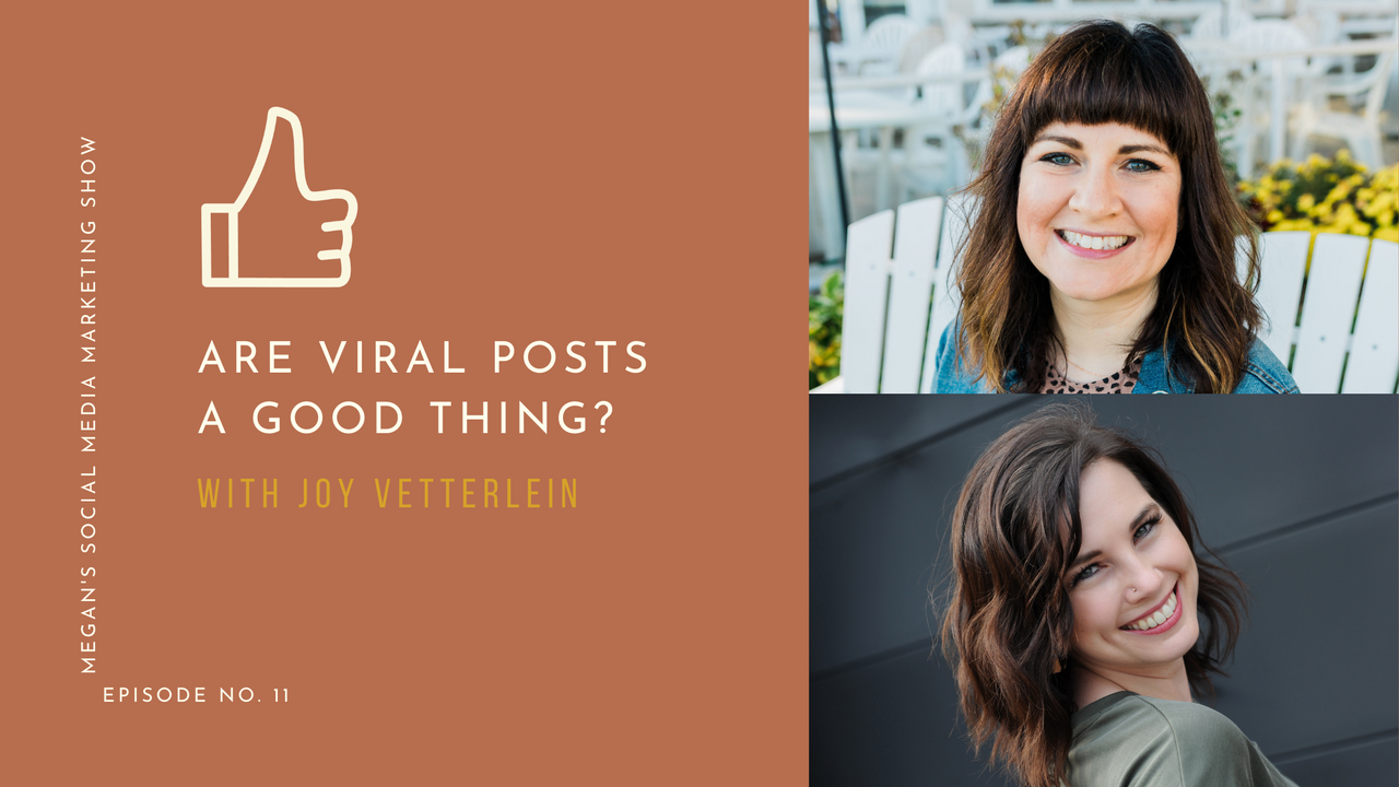 Megan's Social Media Marketing Show - episode 11 - Are Viral Posts a Good Thing?