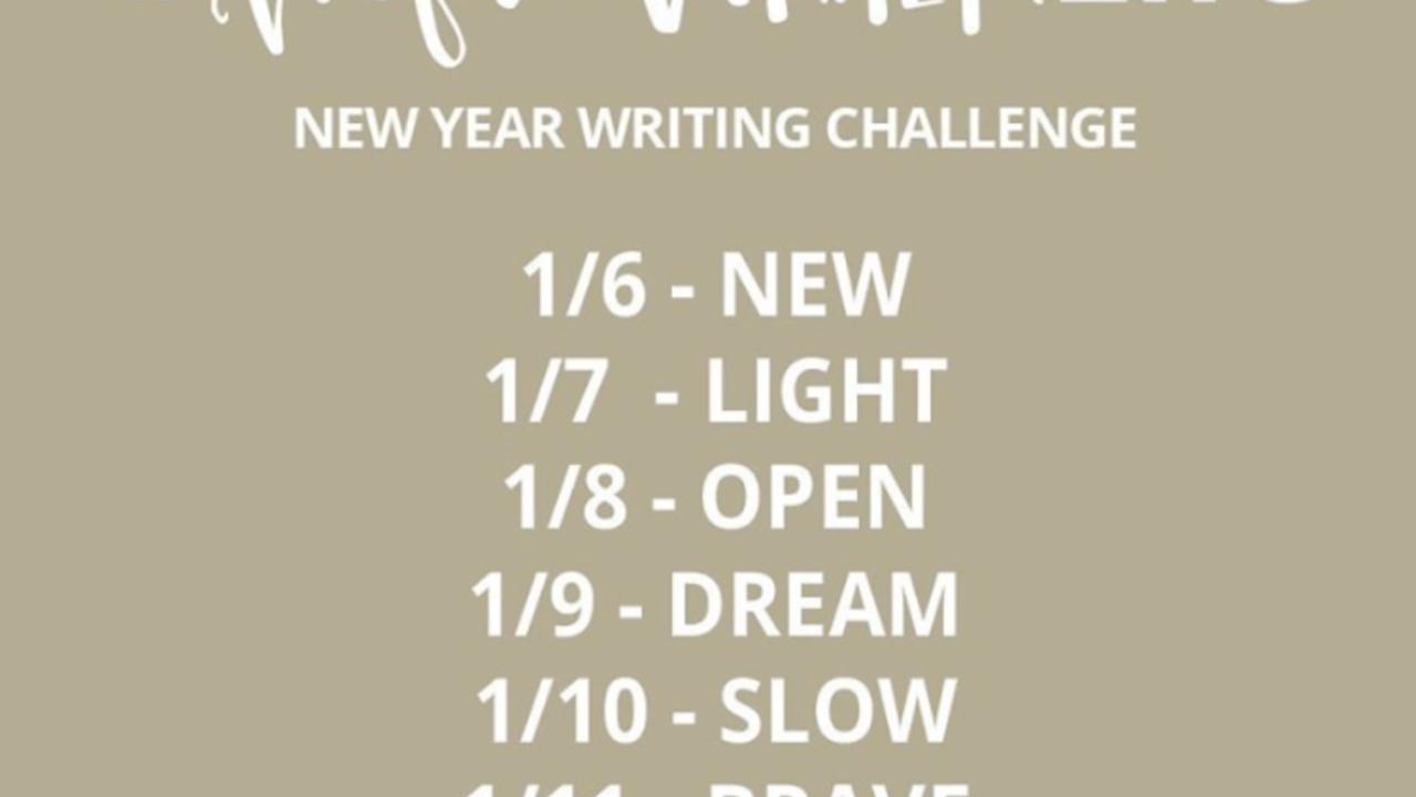 #hopewriterlife Writing Challenge
