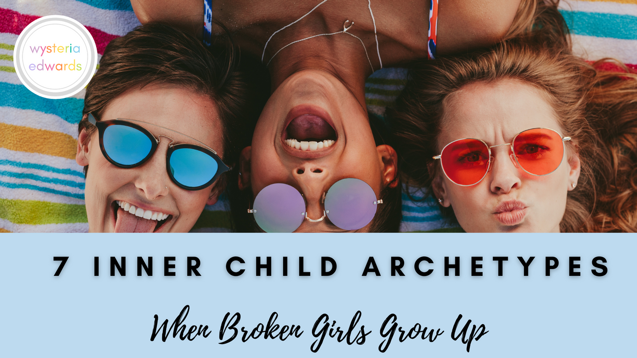 girls with sunglasses and inner child archetypes
