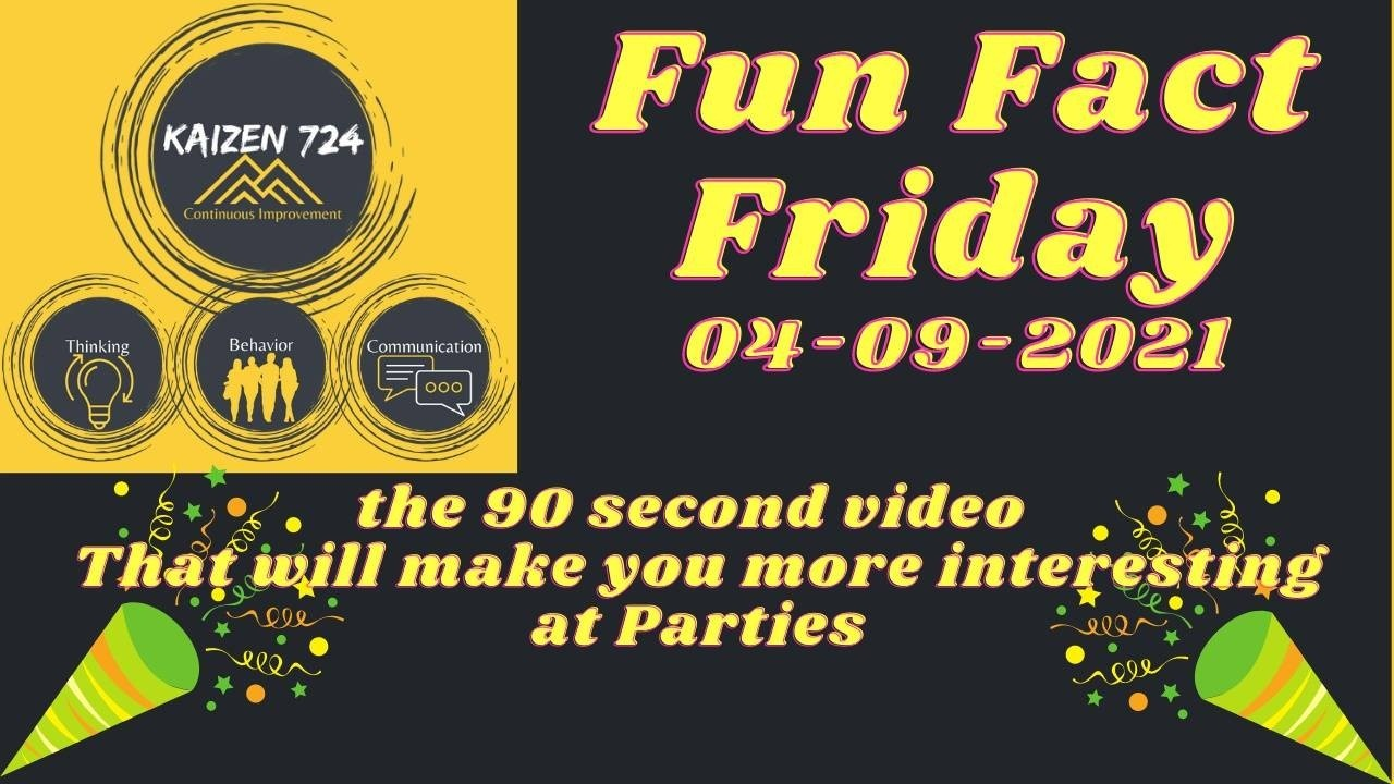 Fun Fact Fridays are little gold nuggets to add to your treasure trove of knowledge and to make you interesting at parties, because we all need to be more interesting at parties.