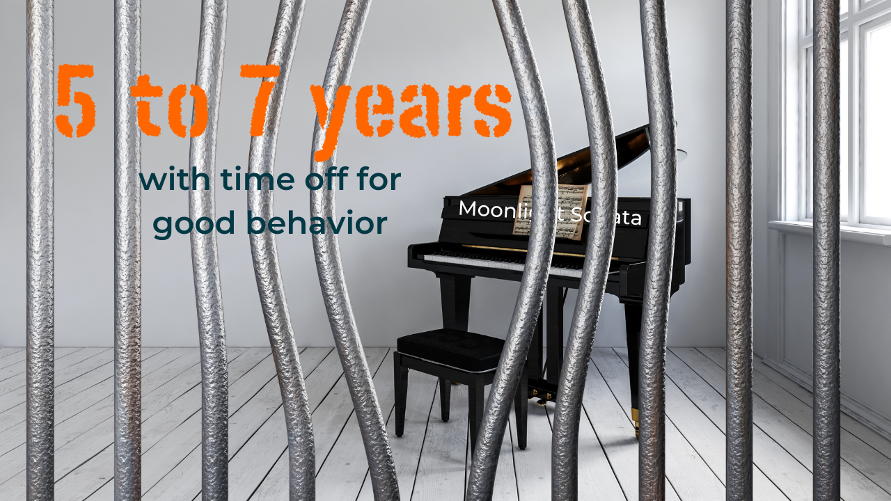 5 to 7 years before you can start playing the piano