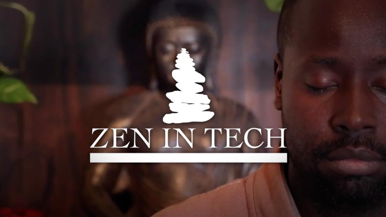 Master Sheldon Meditation, Zen In Tech Logo